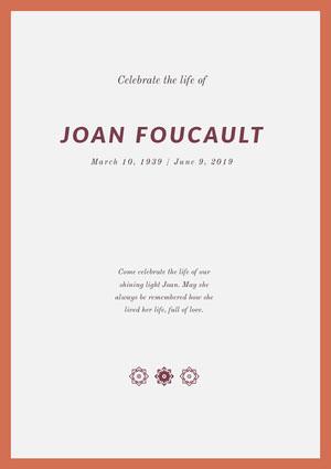 Joan Foucault Program