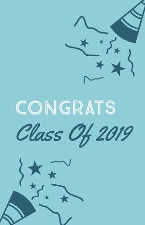 Congrats Tarjeta de graduación