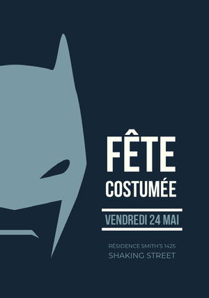 FÊTE COSTUMÉE E-mail d'invitation