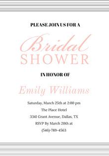 Bridal  Convite de casamento
