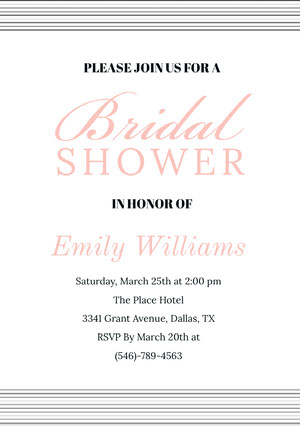 Bridal  Bridal Shower Invitation