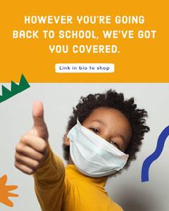 Orange Background and Boy Photo Back To School Store Sale Instagram Portrait Ad Instagram Flyer