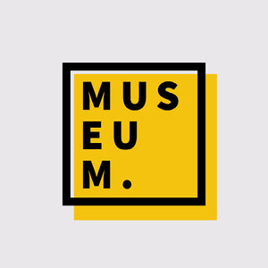 Black & Yellow Museum Logo Text Logo