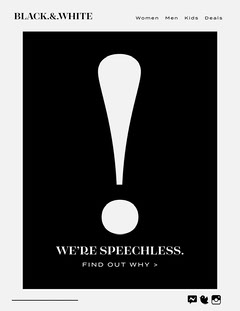 Black and White Exclamation Point Speechless Newsletter Black And White