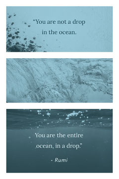 Blue With Ocean Photos Quote Collage Ocean