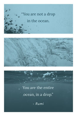 Blue With Ocean Photos Quote Collage Collage di foto