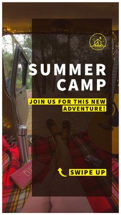 SUMMER<BR>CAMP Summer Camp Poster