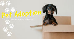 fbeventcover  Dog Adoption Flyer