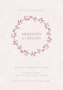 Meredith & Gregory Invitation