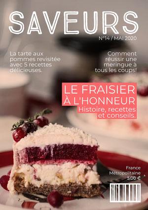 Pink Cake Flavour Magazine Cover  Couverture de magazine