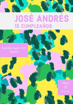José Andrés  Invitación de cumpleaños