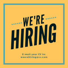 We're Hiring igsquare Now Hiring Flyer