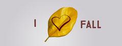 I Love Autumn Facebook Profile Cover Heart