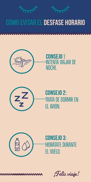 CÓMO EVITAR EL DESFASE HORARIO Infografías