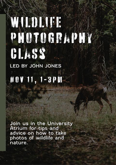 White Black Photography Seminar Flyer A5 Nature