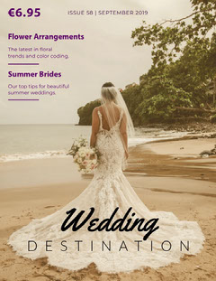 Wedding Bride Magazine Cover Dress