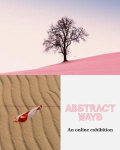 Pink Abstract Ways Instagram Portrait Exhibition