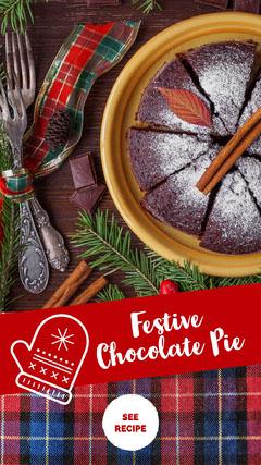 Festive <BR>Chocolate Pie Recipes