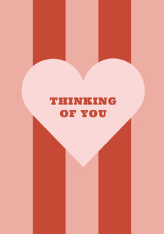 THINKING <BR>OF YOU Red