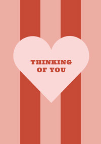 THINKING <BR>OF YOU Card