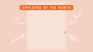 Pink Arrows Funny Employee of the Month Zoom Background Zoom Background