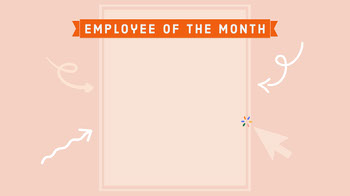 Pink Arrows Funny Employee of the Month Zoom Background Planos de fundo para Zoom