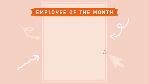 Employee of the Month Zoom Background Zoom-Hintergründe