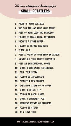 cream brown black small retailers content challenge instagram story  Instagram Flyer