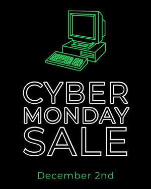 Black and Green Computer Cyber Monday Sale Instagram Portrait Black Friday
