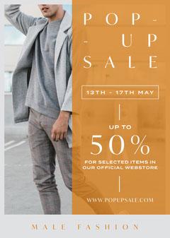 Pop Up Sale Flyer Fashion