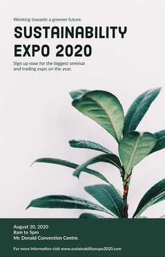 green white plant sustainability expo poster Nature