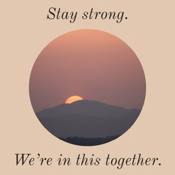 Stay Strong Simple Quote