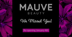 Purple & Black Floral Beauty Salon Facebook Post Beauty Salon