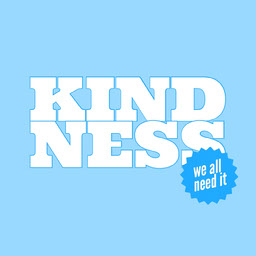 simple blue kindness Instagram post