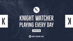 Blue and White Knight Watcher Banner Stream
