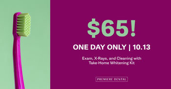 Purple and Green Dental Service Offer Facebook Cover Facebook Image Size