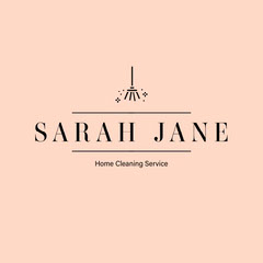 pink black Sarah Jane home cleaning services logo square  Cleaning Service