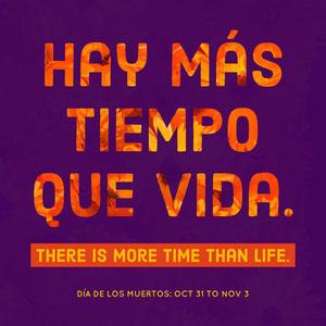 Purple and Ornage Minimalistic Dia De Los Muertos Instagram Post Cartel motivador