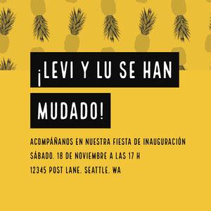 ¡LEVI Y LU SE HAN MUDADO! Invitaciones para enviar por correo electrónico
