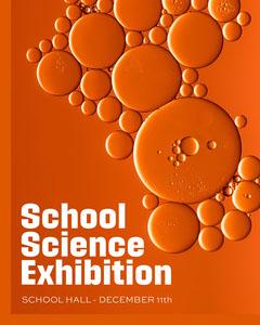 Orange Science Exhibition Instagram Portrait Exhibition