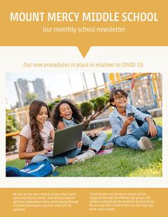 Orange White New School Procedures Newsletter Letter  Back to School