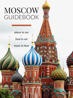 Moscow Russia Travel Guide Cover with Architecture Guide