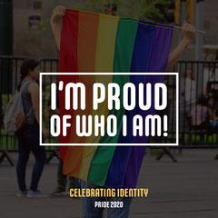 Rainbow Pride Flag I'm Proud Instagram Square Rainbow