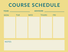 Yellow Weekly Class School Schedule Aikataulu