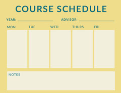 Yellow Weekly Class School Schedule Educational Course