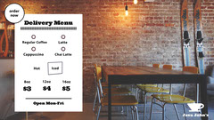 Coffee Order Zoom Background with Cafe Photo Background