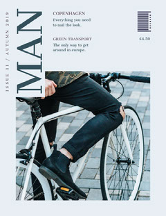 White With Man On Bike Magazine Cover Fashion Magazines Cover