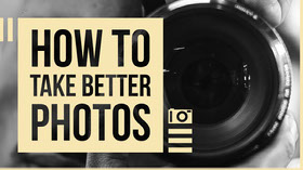 HOW TO TAKE BETTER PHOTOS Youtube 배너