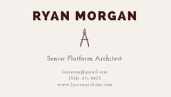 Black and White Architect Business Card with Compass Architecture