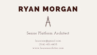 RYAN MORGAN  Business Card